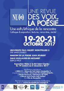 Coloque NU(e) -Octobre 2017 - Affiche